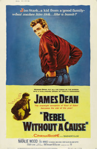 "Rebel Without a Cause (Warner Brothers, 1955). Poster (40"" X 60"") Style Z. Offered in this lot is the ultra-ra..."