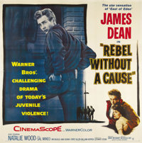 "Rebel Without a Cause (Warner Brothers, 1955). Six Sheet (81"" X 81""). The title alone summed up a generation o..."