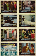"Movie Posters:Drama, Niagara (20th Century Fox, 1953). Lobby Card Set of 8 (11"" X 14"").Marilyn Monroe stars in this moody film noir about a ...(Total: 8 Items)"