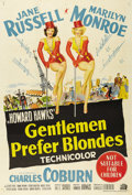 "Movie Posters:Musical, Gentlemen Prefer Blondes (20th Century Fox, 1953). Australian One Sheet (27"" X 40""). Jane Russell and Marilyn Monroe make th..."