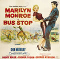 "Movie Posters:Drama, Bus Stop (20th Century Fox, 1956). Six Sheet (81"" X 81""). A classicperformance by Marilyn Monroe punctuates this light hear..."