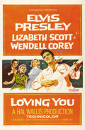 "Movie Posters:Elvis Presley, Loving You (Paramount, 1957). One Sheet (27"" X 41""). Elvis Presley rocked the screen in his second film, the first one that ..."