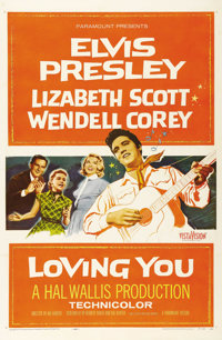 """Loving You (Paramount, 1957). One Sheet (27"""" X 41""""). Elvis Presley rocked the screen in his second film, the f..."""