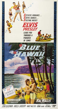 "Blue Hawaii (Paramount, 1961). Three Sheet (41"" X 81""). One of Elvis Presley's 'get-out-of-the-Army' movies th..."