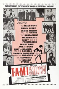 "The T.A.M.I. Show (AIP, 1964). One Sheet (27"" X 41""). It stands for Teenage Awards Music International, and it..."