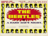 """A Hard Day's Night (United Artists, 1964). British Quad (30"""" X 40"""") Advance. Innovative, young director Richar..."""