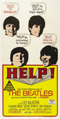 "Movie Posters:Musical, Help (United Artists, 1965) Australian Three Sheet (40"" X 80""). Great three sheet for Australian release of the Beatles' sec..."