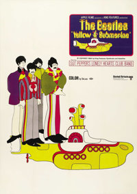 "Yellow Submarine (United Artists, 1968). Promotional Poster (21"" X 29""). Musical. Directed by George Dunning..."