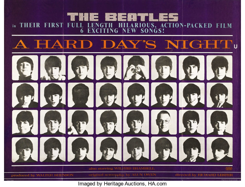 A Hard Day's Night (United Artists, 1964)  British Quad (30