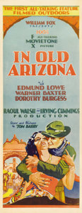 "Movie Posters:Western, In Old Arizona (Fox, 1929). Insert (14"" X 36""). This film ishistorically important as the first sound Western to emerge fro..."