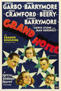 "Movie Posters:Drama, Grand Hotel (MGM, 1932). One Sheet (27"" X 41""). MGM pulled out all the stops in the first of their star-studded features. Th..."