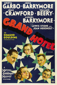 "Grand Hotel (MGM, 1932). One Sheet (27"" X 41""). MGM pulled out all the stops in the first of their star-studde..."