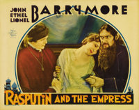 """Rasputin and the Empress (MGM, 1932). Lobby Card (11"""" X 14""""). Lionel, John and Ethel Barrymore star in the onl..."""