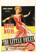 "Movie Posters:Drama, The Little Foxes (RKO, 1941). Australian One Sheet (27"" X 40"").Beautiful artwork for one of Bette Davis' best dramatic film..."
