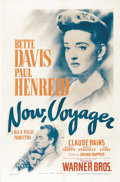 "Movie Posters:Romance, Now, Voyager (Warner Brothers, 1942). One Sheet (27"" X 41""). One ofthe greatest romantic love stories of all time. Bette Da..."