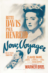 """Now, Voyager (Warner Brothers, 1942). One Sheet (27"""" X 41""""). One of the greatest romantic love stories of all..."""