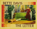 "Movie Posters:Crime, Bette Davis Lot (Warner Brothers, 1940). Lobby Cards (2) (11"" X14""). This lot features two Bette Davis Warner's linen cards...(Total: 2 Items)"