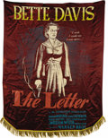 """Movie Posters:Film Noir, The Letter (Warner Brothers, 1940). Silkscreen Banner (40"""" X 50"""").For many of the more prestigious feature films released b..."""