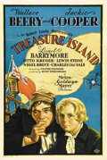 "Movie Posters:Adventure, Treasure Island (MGM, 1934). One Sheet (27"" X 41""). Wonderful stonelitho artwork highlights this version of Robert Louis St..."