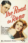 """Movie Posters:Drama, The Road to Reno (Paramount, 1931). One Sheet (27"""" X 41""""). One ofthe most beautiful examples of the classic stone lithograp..."""