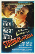 "Movie Posters:Fantasy, Stairway to Heaven (Universal, 1947). One Sheet (27"" X 41""). More famous today as ""A Matter of Life and Death,"" this British..."