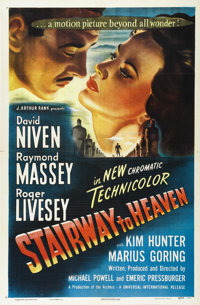 "Stairway to Heaven (Universal, 1947). One Sheet (27"" X 41""). More famous today as ""A Matter of Life and D..."