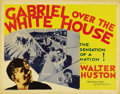 """Movie Posters:Fantasy, Gabriel Over the White House (MGM, 1933). Half Sheet (22"""" X 28""""). Walter Huston stars in this very unusual film about a Pres..."""