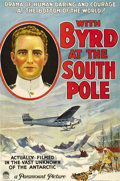 "Movie Posters:Documentary, With Byrd at the South Pole (Paramount, 1930). One Sheet (27"" X 41""). This documentary recorded Admiral Richard Byrd's 1928 ..."
