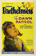 "Movie Posters:War, The Dawn Patrol (First National, 1930). One Sheet (27"" X 41""). The original version of John Monk Saunders' story of death, r..."