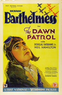 "The Dawn Patrol (First National, 1930). One Sheet (27"" X 41""). The original version of John Monk Saunders' sto..."