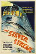 "Movie Posters:Action, The Silver Streak (RKO, 1934). One Sheet (27"" X 41""). A greatposter for train enthusiasts, this one sheet features a beauti..."