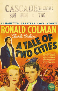 """A Tale of Two Cities (MGM, 1935). Window Card (14"""" X 22""""). The definitive version of Charles Dickens' novel st..."""