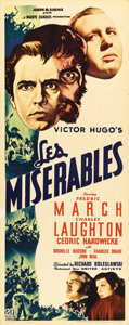 """Movie Posters:Drama, Les Misérables (20th Century Fox, 1935). Insert (14"""" X 36""""). One ofthe early screen versions of Victor Hugo's novel, this F..."""