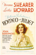 """Movie Posters:Drama, Romeo and Juliet (MGM, 1936). One Sheet (27"""" X 41"""") Style C. NormaShearer brought a terrific dew-eyed freshness to the role..."""