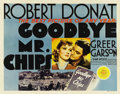"Movie Posters:Drama, Goodbye, Mr. Chips (MGM, 1939). Half Sheet (22"" X 28""). RobertDonat (who received a Best Actor Academy Award for his perfor..."