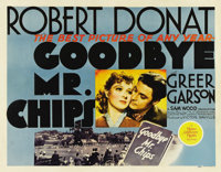"""Goodbye, Mr. Chips (MGM, 1939). Half Sheet (22"""" X 28""""). Robert Donat (who received a Best Actor Academy Award..."""