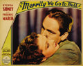 """Movie Posters:Comedy, Merrily We Go to Hell (Paramount, 1932). Lobby Cards (2) (11"""" X14""""). This Paramount film stars Sylvia Sidney as an heiress ...(Total: 2 Items)"""
