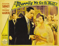 """Movie Posters:Comedy, Merrily We Go to Hell (Paramount, 1932). Lobby Card (11"""" X 14"""").Offered in this lot are two cards from the film both pictur...(Total: 2 Items)"""