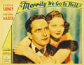 """Movie Posters:Comedy, Merrily We Go to Hell (Paramount, 1932). Lobby Card (11"""" X 14""""). Beautiful portrait card of the two stars of this Paramount ..."""