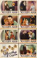 "Movie Posters:Comedy, Goodbye Again (First National, 1933). Lobby Card Set of 8 (11"" X14""). A very early screwball comedy, with a writer (Warren ...(Total: 8 Items)"
