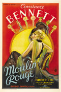 "Movie Posters:Musical, Moulin Rouge (United Artists, 1934). One Sheet (27"" X 41"").Stunningly gorgeous artwork of Constance Bennett in her magnific..."
