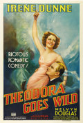 "Theodora Goes Wild (Columbia, 1936). One Sheet (27"" X 41""). Irene Dunne and Melvyn Douglas star in one of the..."