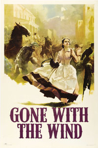 "Gone With the Wind (MGM, 1939). One Sheet (27"" X 41"") Style CP. From one of the most famous films of all time..."