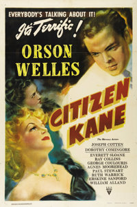 "Citizen Kane (RKO, 1941). One Sheet (27"" X 41"") Style B. One of the ""holy grails"" for movie poster c..."
