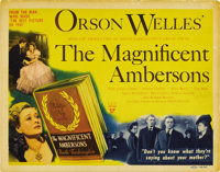 """The Magnificent Ambersons (RKO, 1942). Title Lobby Card (11"""" X 14""""). This classic melodrama deals with the ris..."""