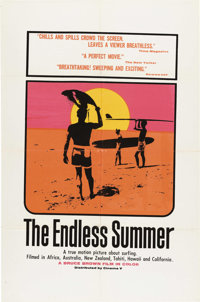 """The Endless Summer (Cinema V, 1966). One Sheet (27"""" X 41"""") and Black and White Stills (16) (8"""" X 10""""..."""