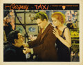 """Movie Posters:Crime, Taxi (Warner Brothers, 1932). Lobby Card (11"""" X 14""""). James Cagneyis an independent cabbie trying to organize a union in th..."""