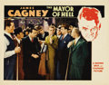 """Movie Posters:Crime, Mayor of Hell (Warner Brothers, 1933). Lobby Card (11"""" X 14"""").Classic pose of James Cagney with his henchman Allen Jenkins,..."""