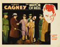 """Movie Posters:Crime, Mayor of Hell (Warner Brothers, 1933). Lobby Cards (2) (11"""" X 14"""").James Cagney restrains Dudley Digges, the warden of the ... (Total:2 Items)"""