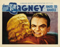 "Movie Posters:Comedy, Hard To Handle (Warner Brothers, 1933). Lobby Card (11"" X 14"").Great close-up of James Cagney giving his signature wink. Th..."